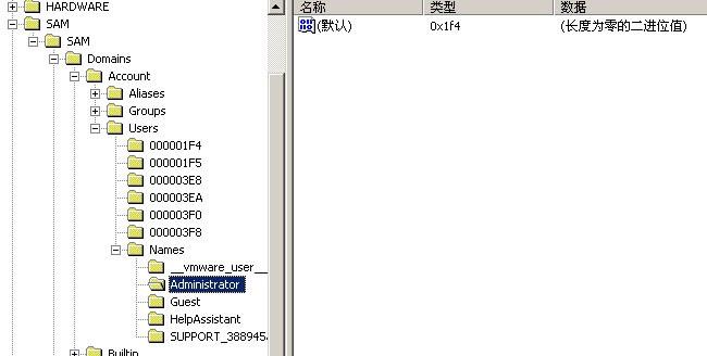 windows添加隐藏账户